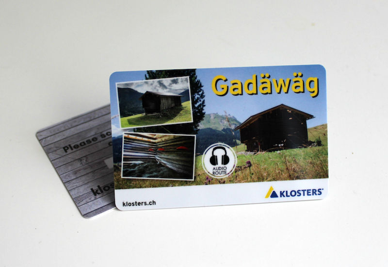 Audioguide for the Gadäwäg in Klosters Davos