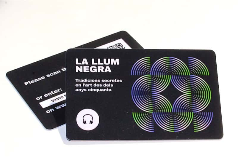 Audioguide for the Special Exhibition Llum Negra im CCCB (Barcelona)
