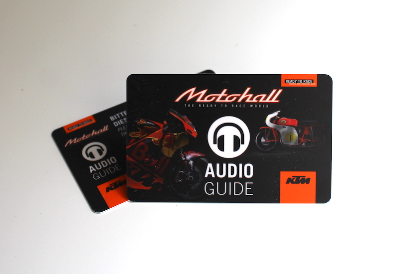 Audioguide for KTM Motohall in Mattighofen, Austria