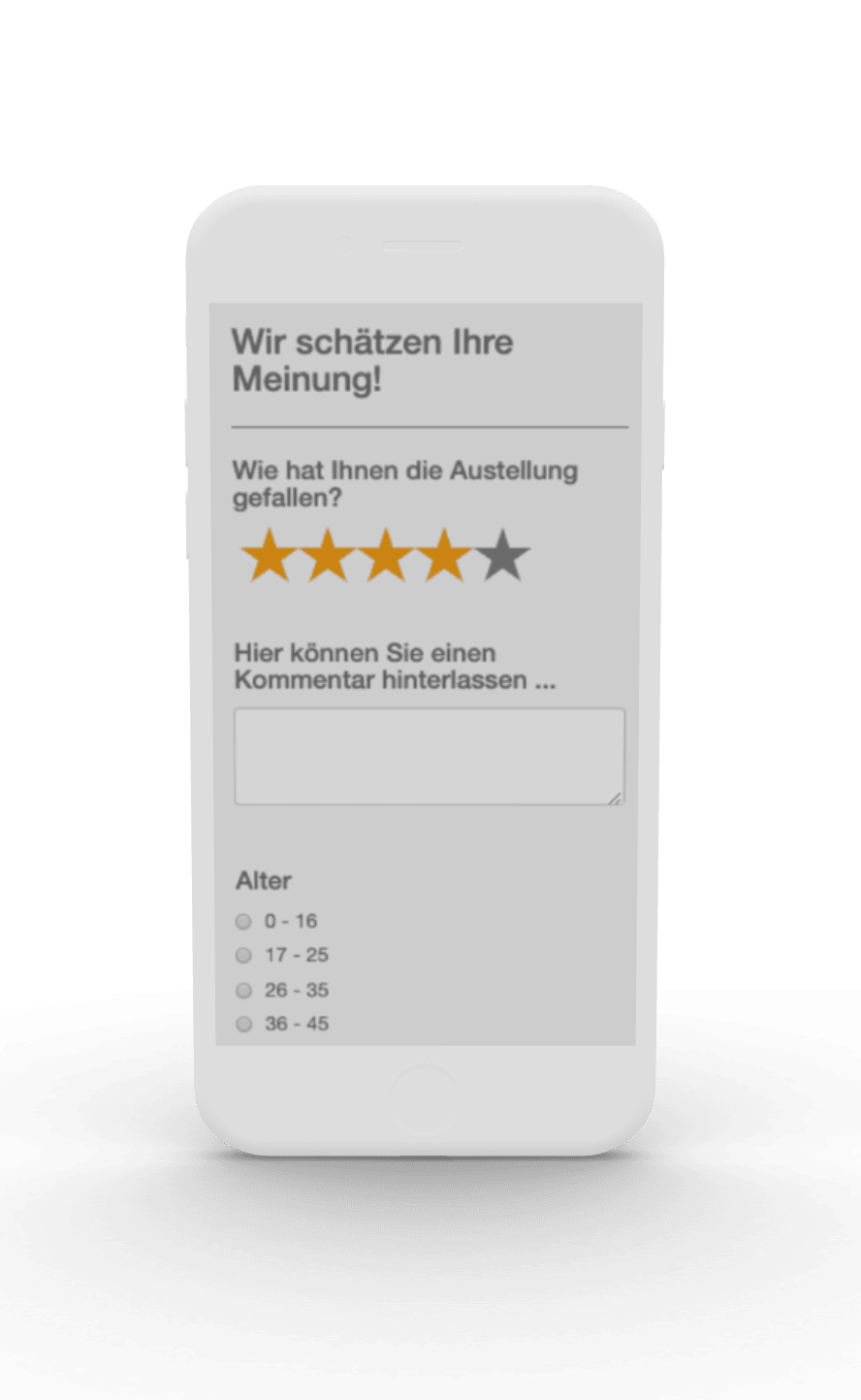 Feedback-Fragebogen in Nubart Audioguides