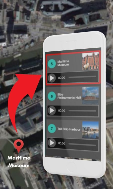 Nubart's geolocation feature for boat trips and river cruises