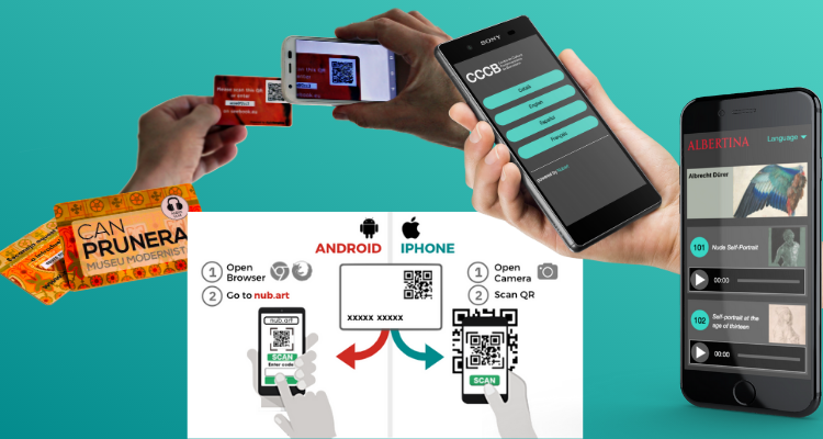 Nubart audio-guides being accessed through QR code